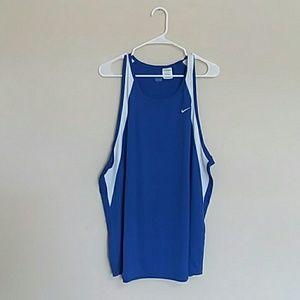 NIKE Blie Sleeveless Athletic Shirt Tank Top